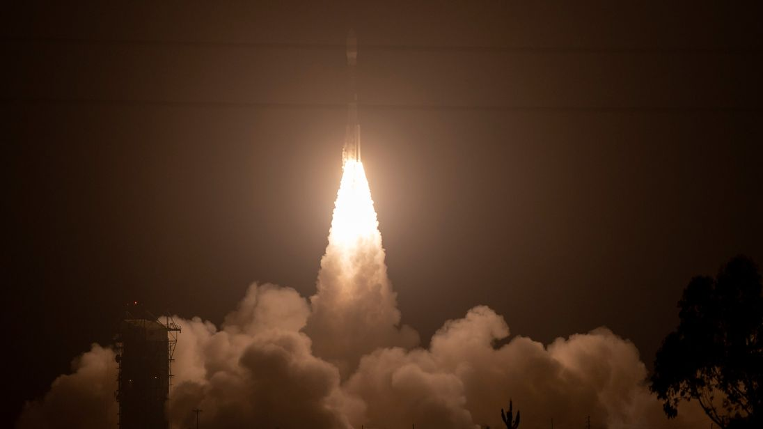 The Delta II rocket blasts off carrying the ICESat-2. Pic NASA  Bill Ingalls
