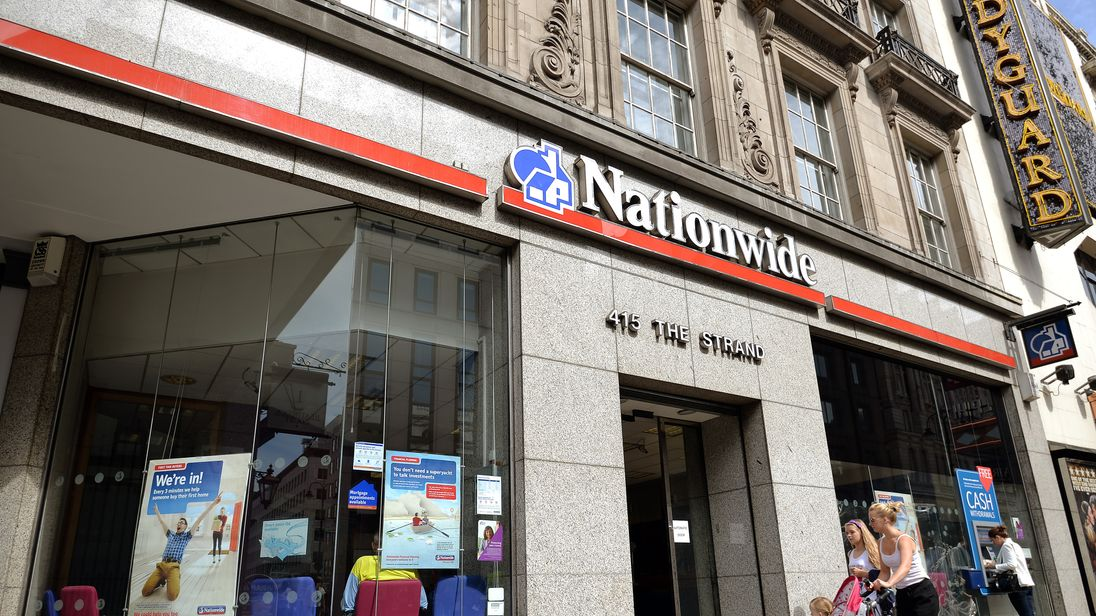 The Nationwide Building Society branch in The Strand