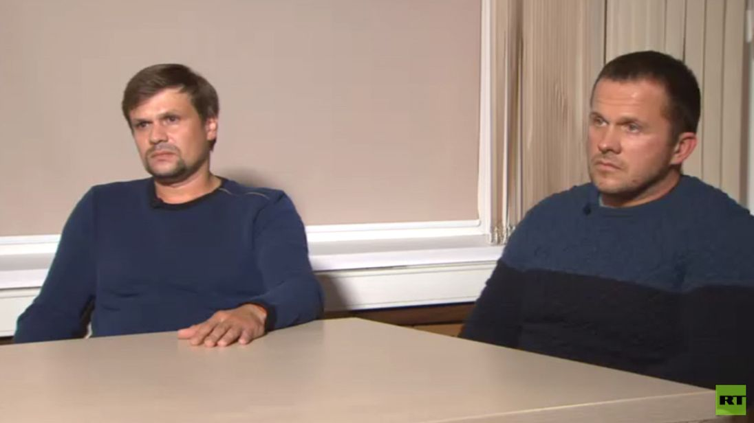 Novichok suspects. Pic Russia Today