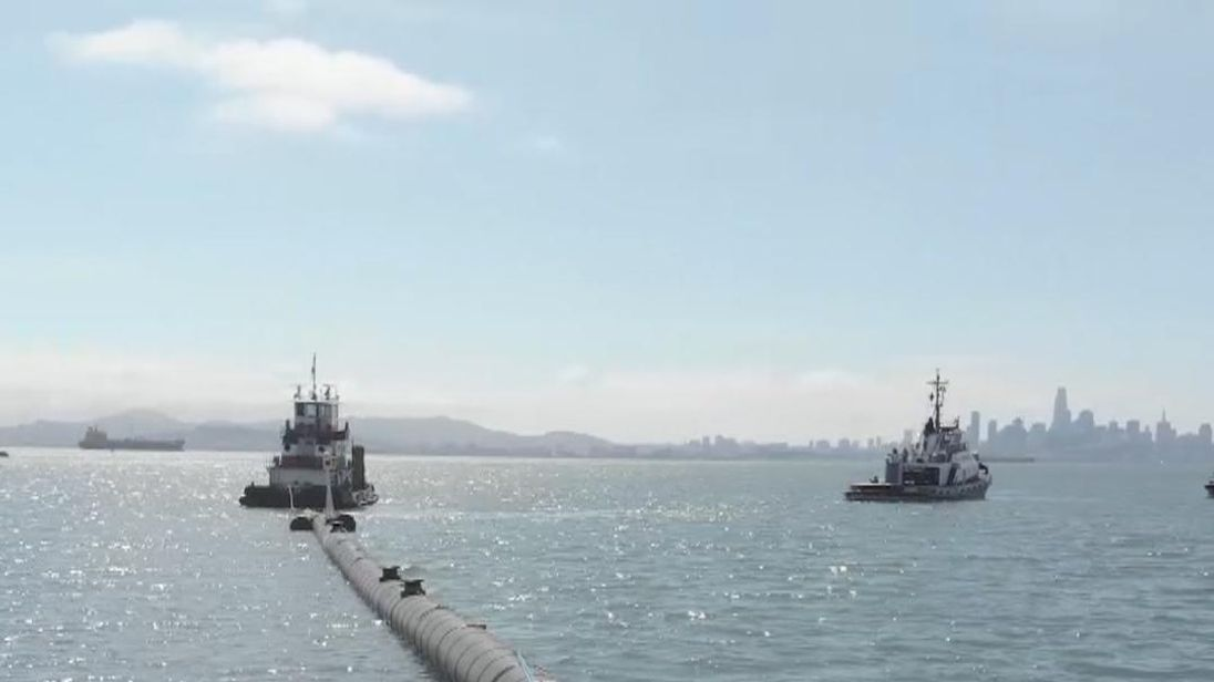 World's first ocean clean up system launched from San Francisco