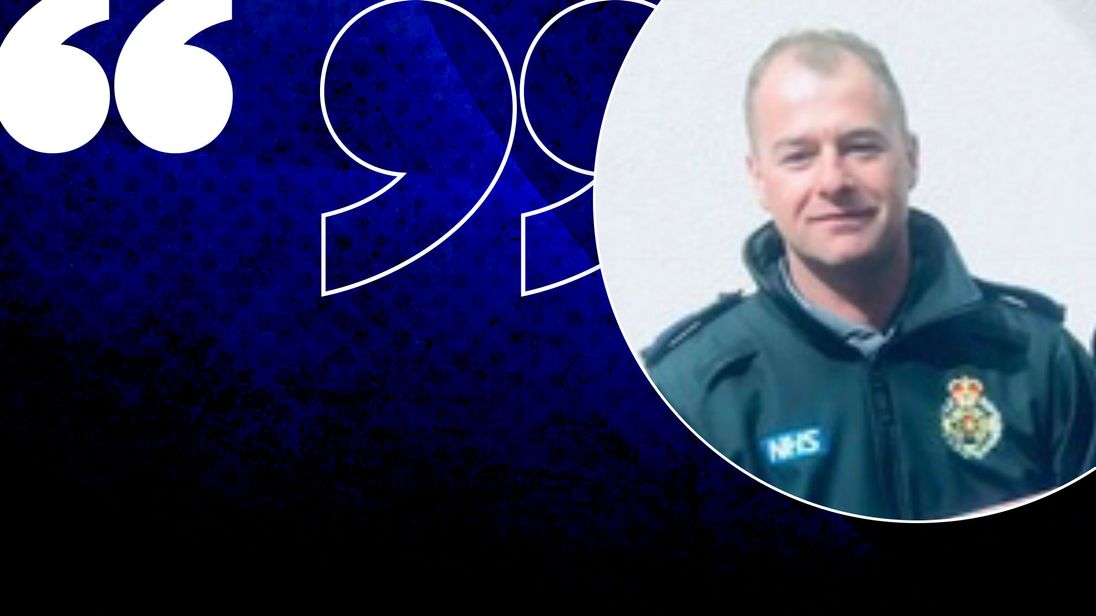 Paramedic Paul Turner was beaten by a man he tried to treat
