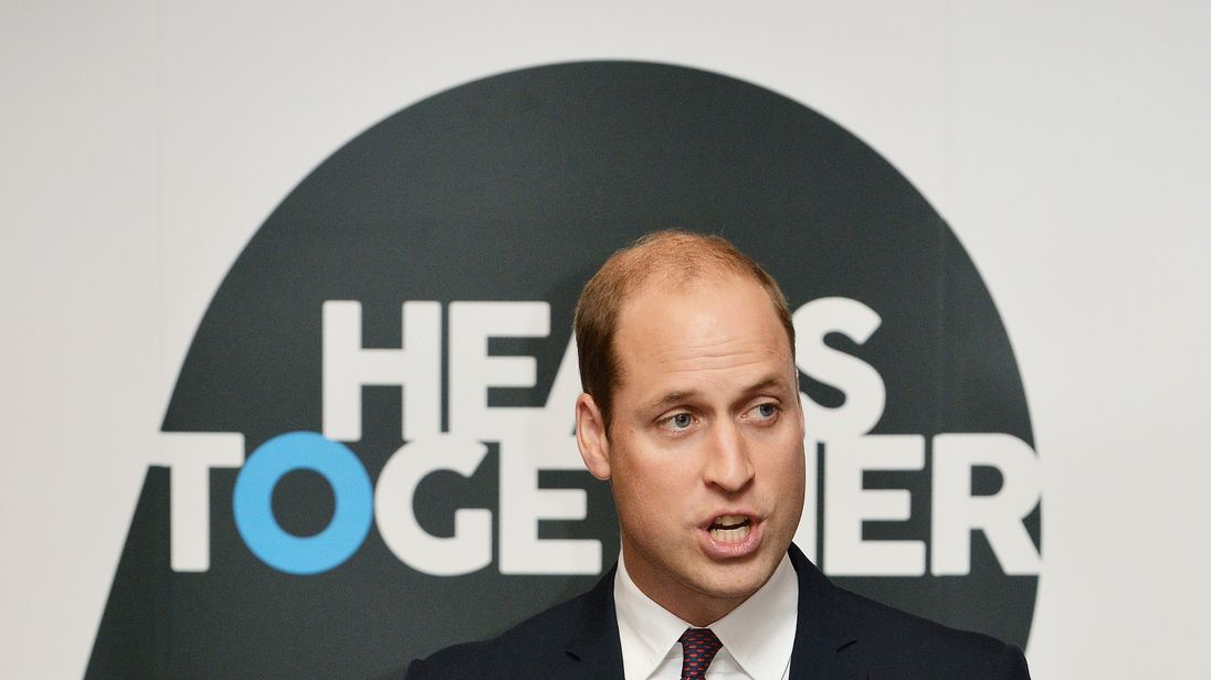 Prince William, The Duke of Cambridge at the launch of their Heads Together campaign