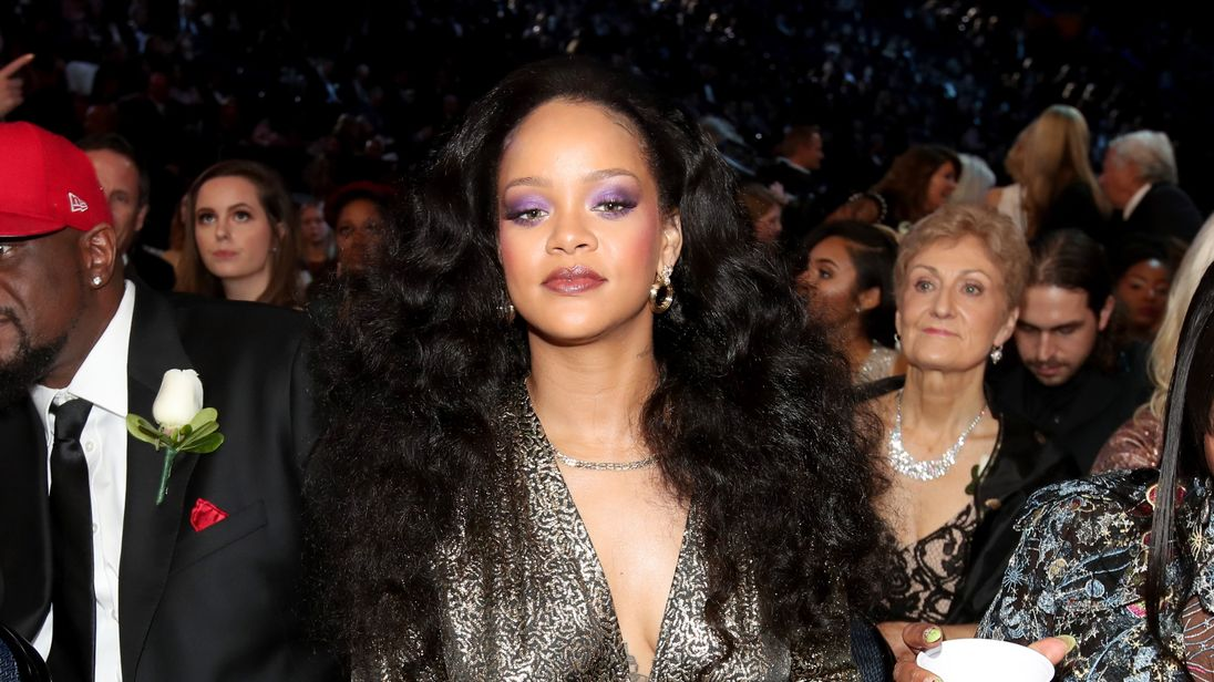Rihanna attends the 60th Annual GRAMMY Awards at Madison Square Garden on January 28, 2018 in New York City.  (Photo by Christopher Polk/Getty Images for NARAS)