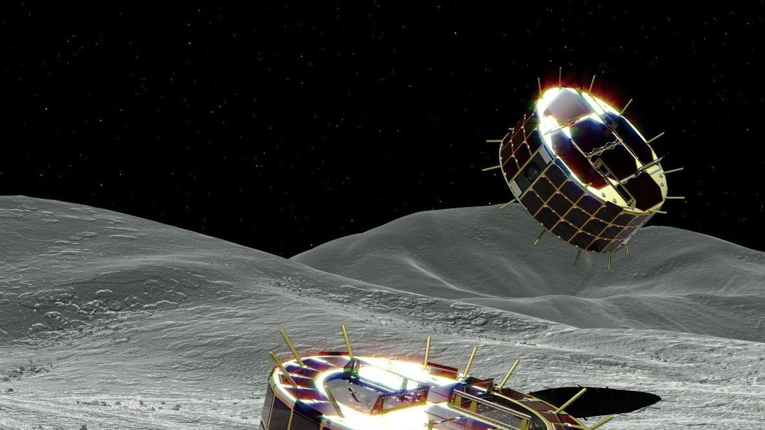 Japanese space probe shoots hopping rovers at asteroid