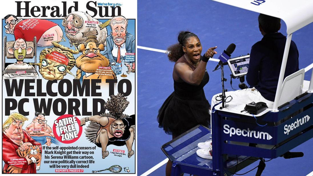 The Herald Sun has dismissed the backlash against the Serena Williams cartoon