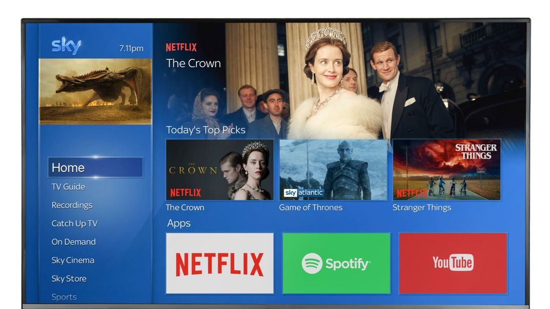 Sky already has a deal with Spotify on its Sky Q platform. Pic: Sky