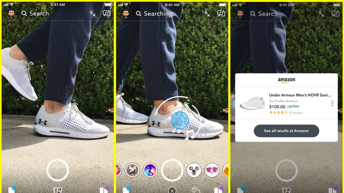 Snapchat now allows users to shop on Amazon with their cameras