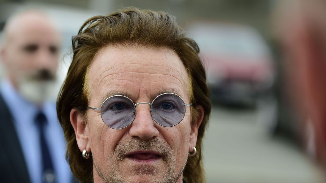 Bono lost his voice just a few songs into the Berlin gig