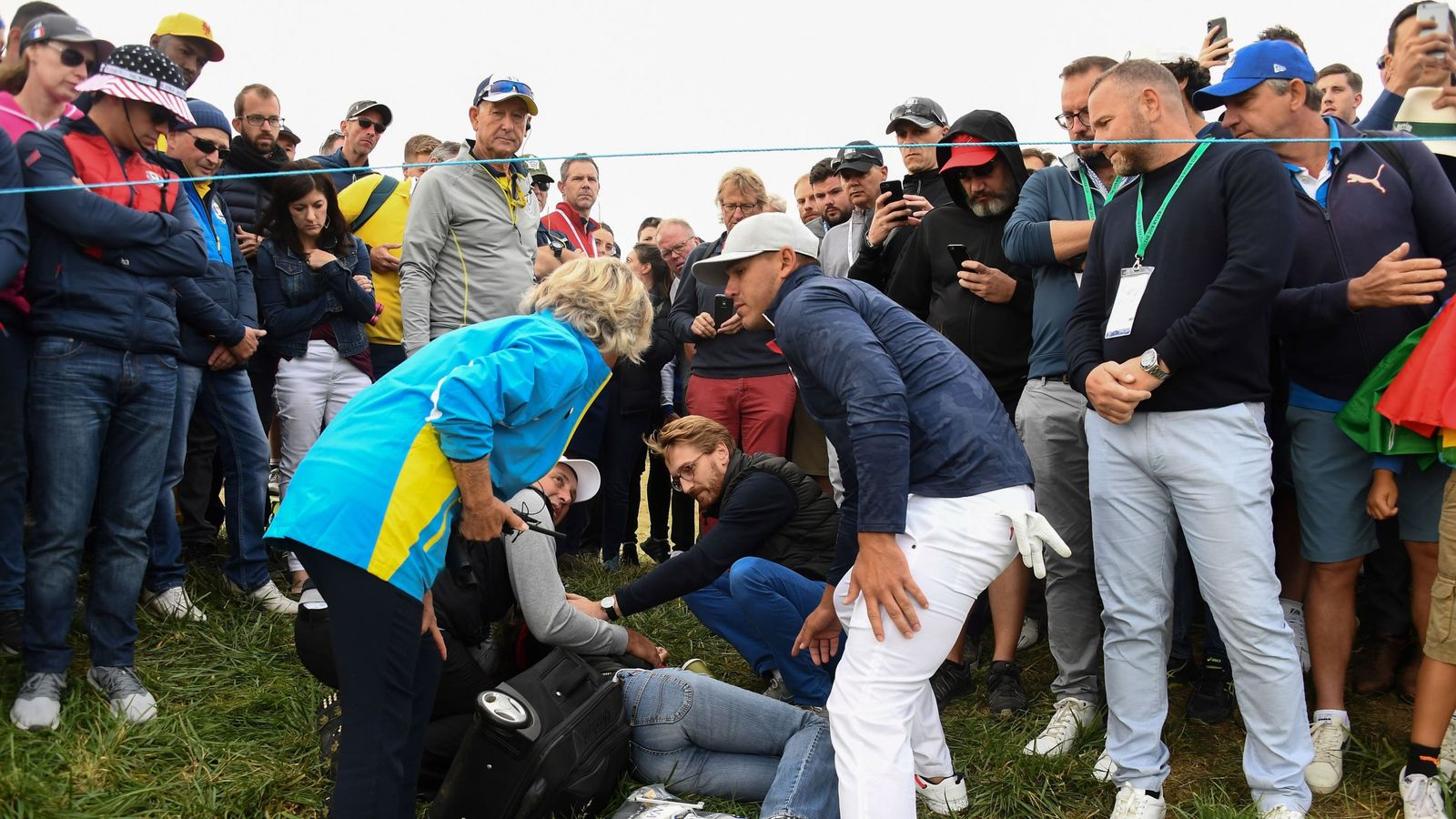 Ryder Cup spectator loses the sight in one eye