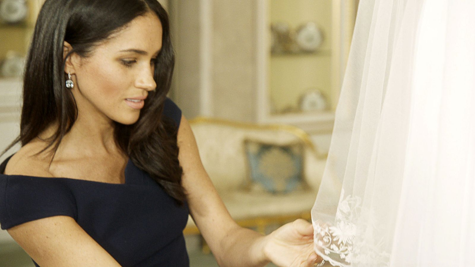 Meghan reveals her 'something blue' was from first date with Harry