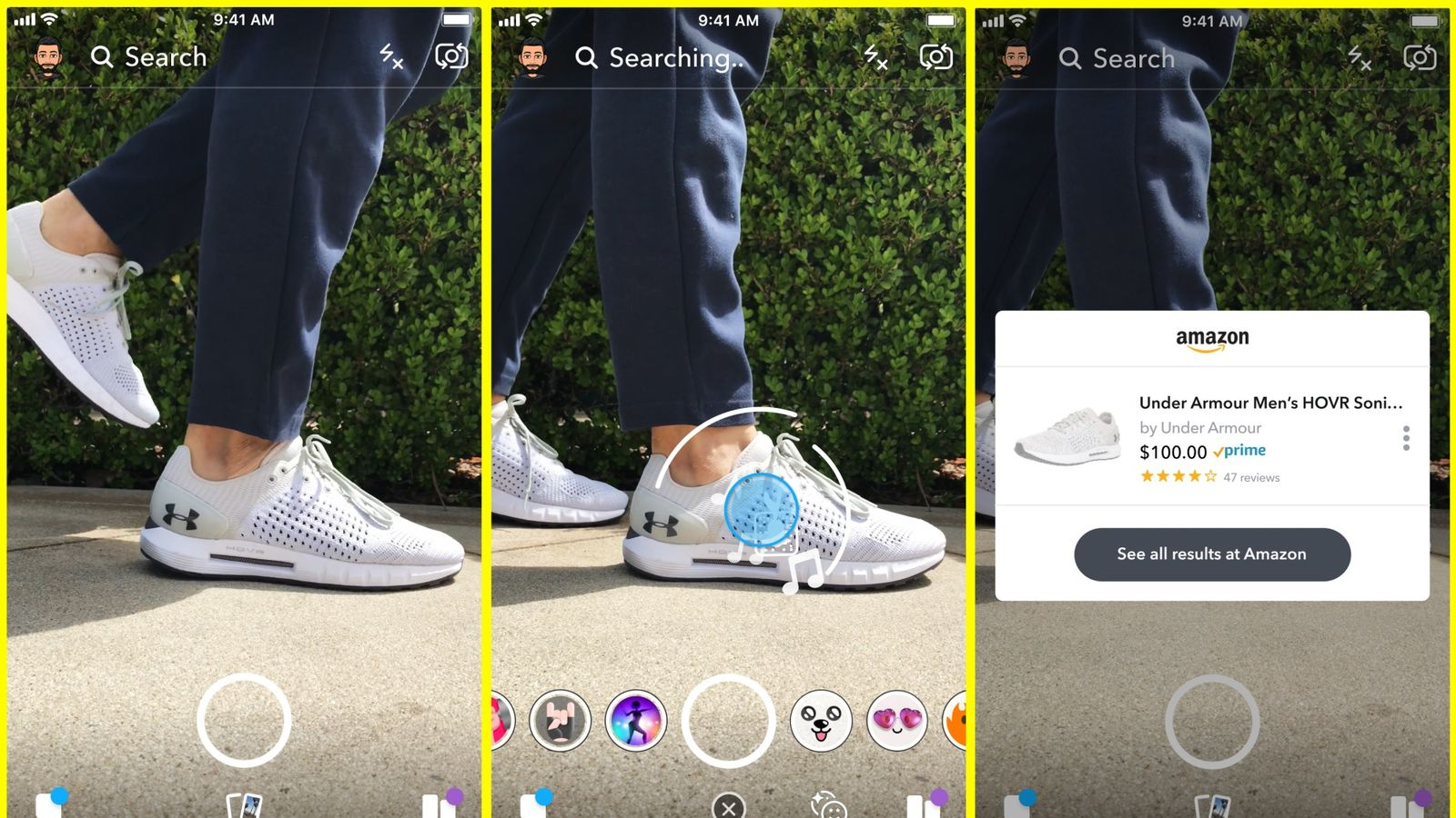 Snapchat lets you photo objects and buy them on Amazon