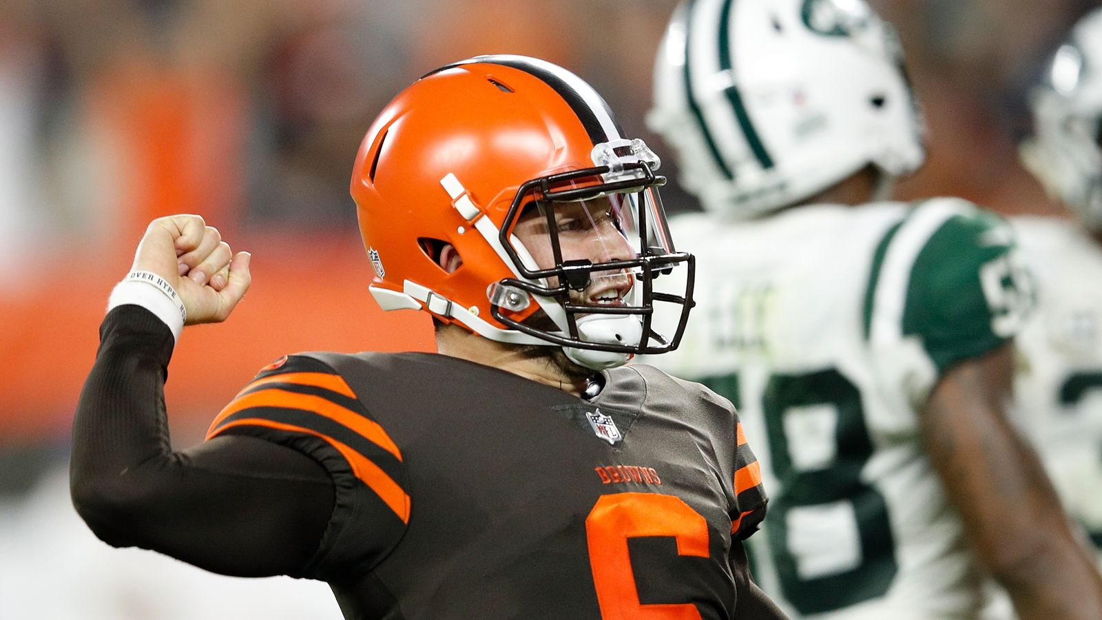258f5f91d New York Jets 17-21 Cleveland Browns  Baker Mayfield stars as Browns end  19-game winless streak