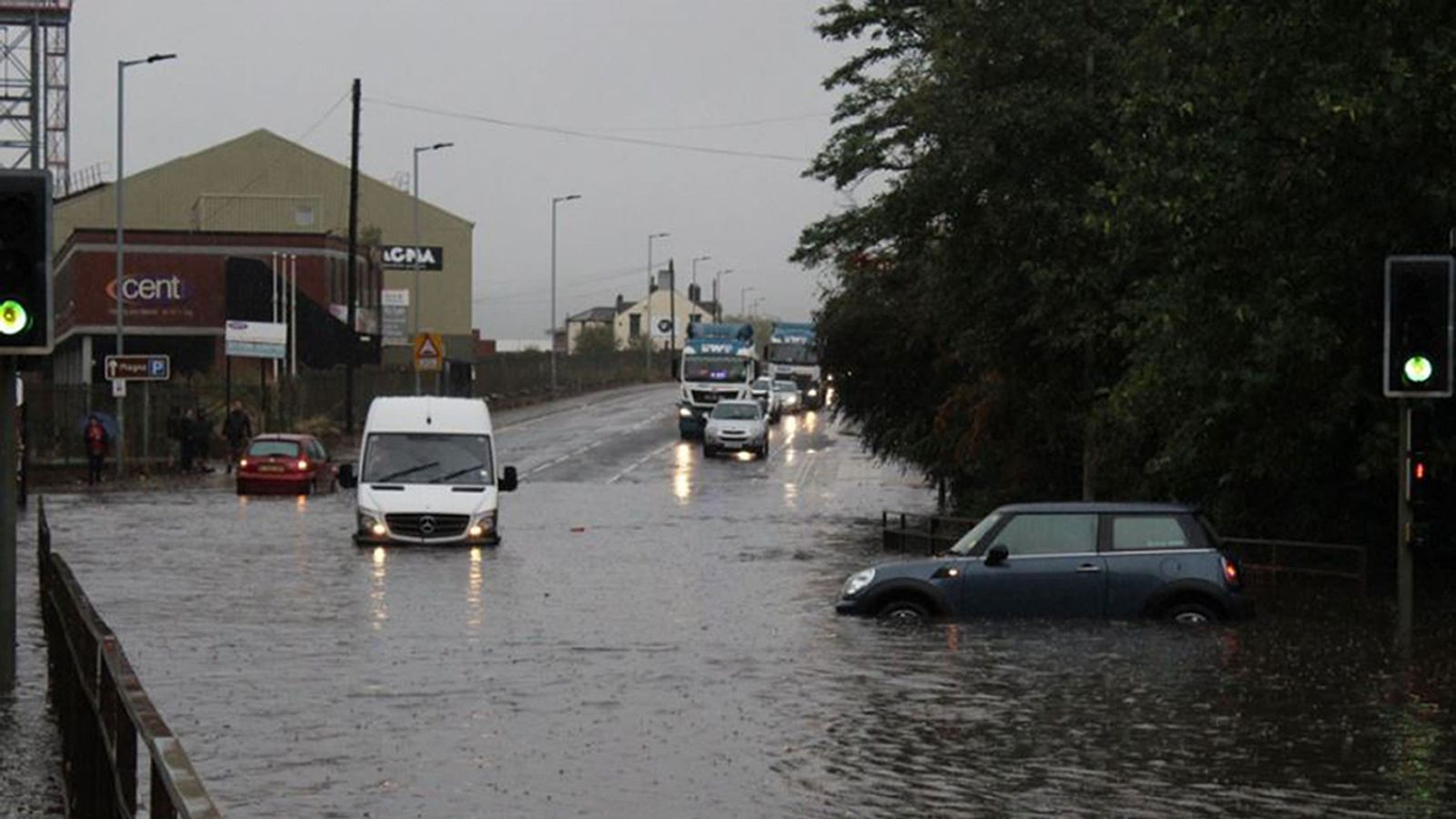 Storm Bronagh brings flash floods and 76mph winds