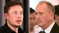 Elon Musk and Vernon Unsworth