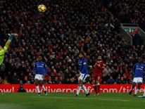 Liverpool player Mo Salah's goal against Everton in December won best goal