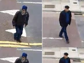 Two men sought after a distraction burglary during which a man's ashes were taken