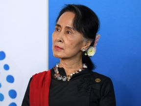 Aung San Suu Kyi at the New Colombo Plan Reception