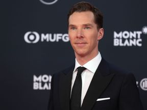 British actor and ceremony host Benedict Cumberbatch poses on the red carpet before the 2018 Laureus World Sports Awards ceremony at the Sporting Monte-Carlo complex in Monaco on February 27, 2018. / AFP PHOTO / Valery HACHE (Photo credit should read VALERY HACHE/AFP/Getty Images)