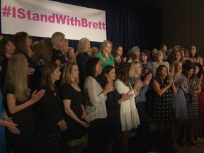 The women mounted a united defence of Judge Kavanaugh