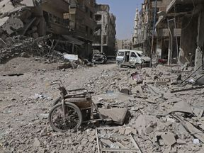 Aftermath of attack on eastern Ghouta
