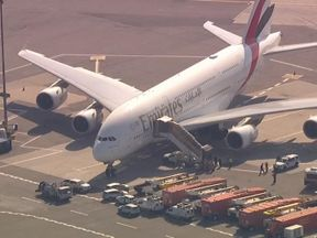The jet is believed to have arrived from Dubai this morning