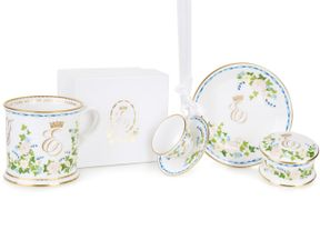 The range of commemorative china marks the wedding of Princess Eugenie and Mr Jack Brooksbank. Pic: Royal Collection Trust/ Her Majesty Queen Elizabeth II 2018