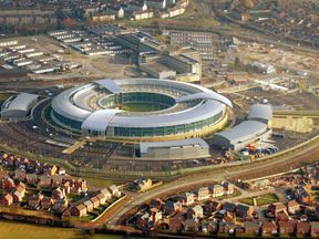 The GCHQ headquarters in Cheltenham, Gloucestershire