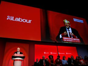 Jeremy Corbyn delivers his keynote speech at the Labour Party Conference