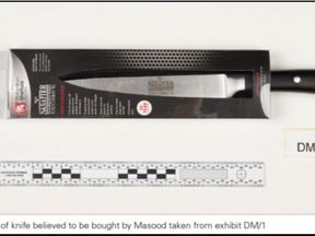 Police have released an image of the brand of knife Masood is believed to have bought