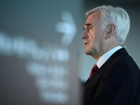 Shadow Chancellor John McDonnell is interviewed on day two of the Labour Party conference in Liverpool