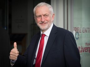 Jeremy Corbyn pictured in Liverpool