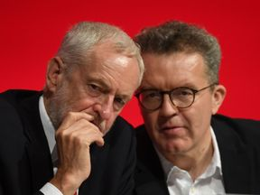 Labour leader Jeremy Corbyn and deputy leader Tom Watson during the party's conference in Liverpool