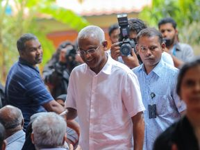 Opposition leader Mohamed Solih