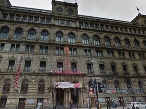 One of the men was discovered in a room at the Britannia hotel on Portland Street. Pic: Google Street View