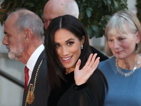 Meghan has attended an exhibition at the Royal Academy of Arts in London