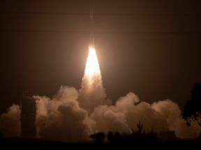 The Delta II rocket blasts off, carrying the ICESat-2 . Pic: NASA/Bill Ingalls