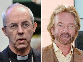 TV presenter Noel Edmonds calls the Archbishop of Canterbury a 'hypocrite'