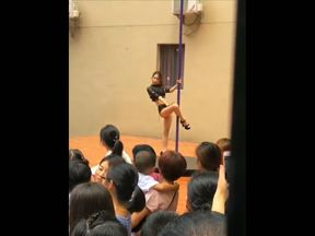 The principal has been sacked following the pole dance incident