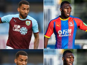 Burnley (L) and Crystal Palace are two of the nine Premier League clubs sponsored by betting firms