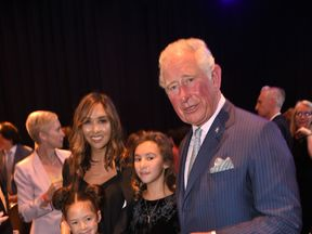 The Prince of Wales with Mylene Klass