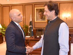 Sajid Javid and Imran Khan