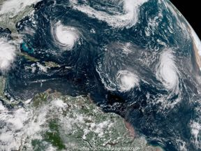 Three storms are currently swirling across the Atlantic
