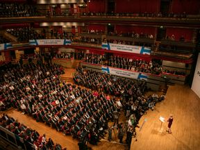 Theresa May makes her keynote speech as she closes the 2016 Conservative conference