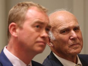 Tim Farron and Sir Vince Cable