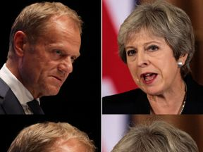 Donald Tusk says he is a 'true admirer' of Theresa May