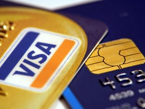 File photo dated 15/06/06 of a Visa Chip and pin credit card