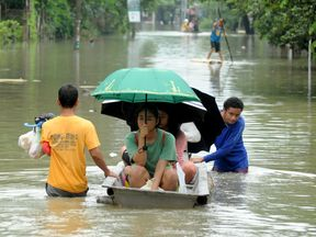 Tropical Storm Yagi brought heavy floods last month