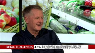 Morrissons chief executive David Potts appears on Ian King Live, September 13, 2018