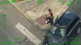 A woman driving an SUV with a baby on board led police on a high-speed chase through San Antonio on June 15, before crashing into another vehicle, running away from the scene with a baby, and attempting to hijack another car.
