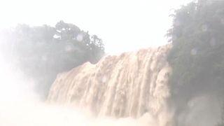 Huangguoshu Waterfall swells after heavy rainfall